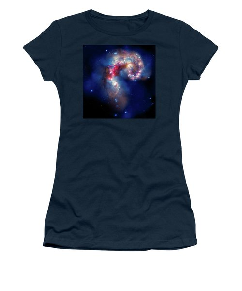 Women's T-Shirt (Junior Cut) featuring the photograph A Galactic Spectacle by Marco Oliveira