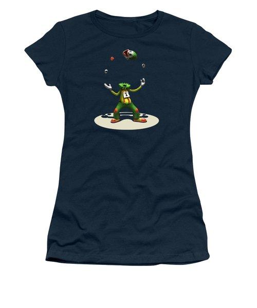 Women's T-Shirt (Junior Cut) featuring the digital art A Hard Act To Follow by Ben Hartnett