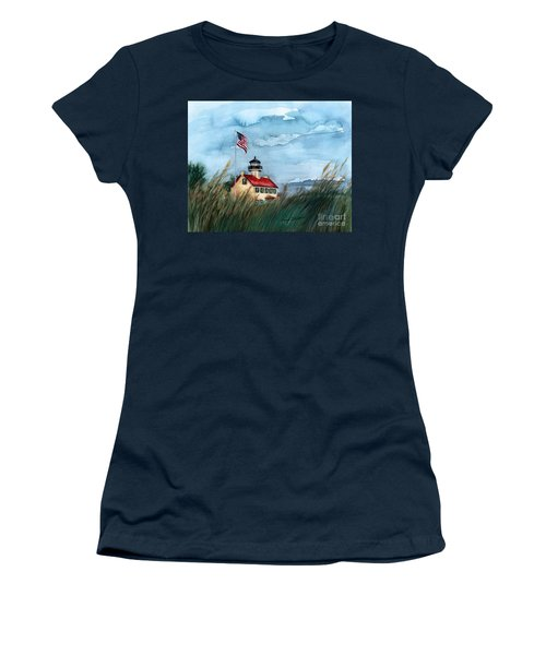 A New Day At East Point Lighthouse Women's T-Shirt (Junior Cut) by Nancy Patterson