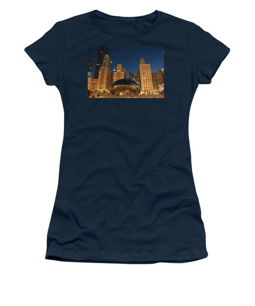 A View From Millenium Park At Night Women's T-Shirt