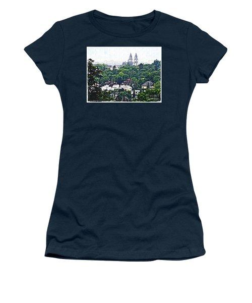 A View Of Wiesbaden Women's T-Shirt (Junior Cut) by Sarah Loft
