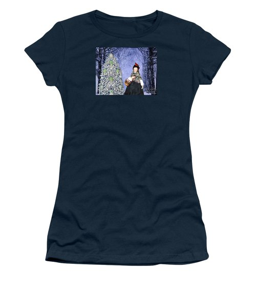 A Winter Walk Women's T-Shirt (Junior Cut) by Lyric Lucas