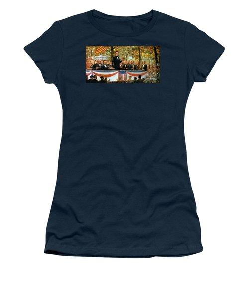 Abraham Lincoln And Stephen A Douglas Debating At Charleston Women's T-Shirt