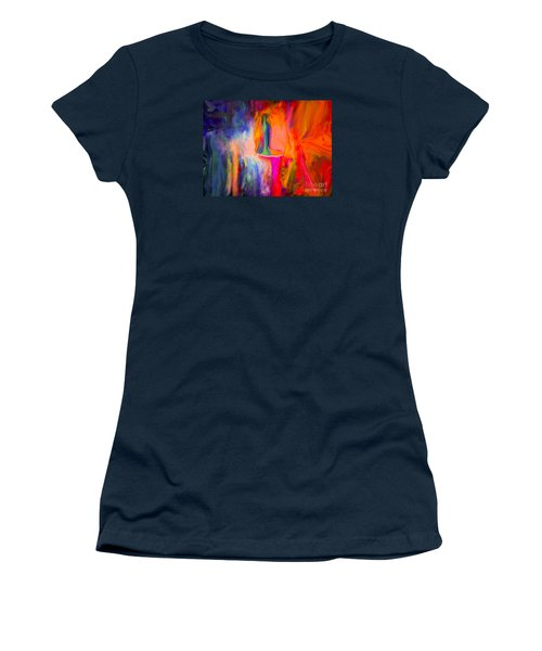 Abstract Art  Waiting Women's T-Shirt (Athletic Fit)