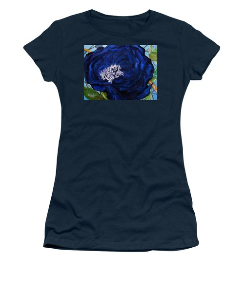 Abstract Blue Women's T-Shirt (Junior Cut) by Lil Taylor