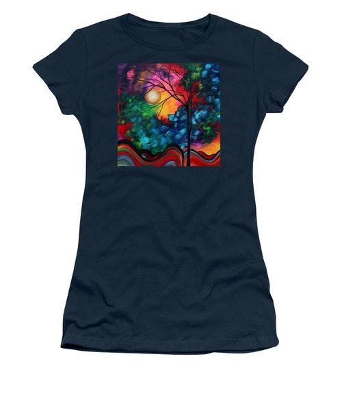 Abstract Landscape Bold Colorful Painting Women's T-Shirt