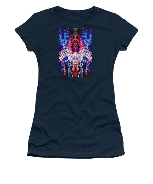 Abstract Lightpainting Oil Style Unique Poster Image Women's T-Shirt