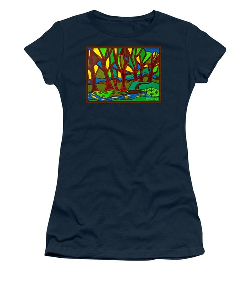 Abstract Of The Otter Pool Women's T-Shirt (Athletic Fit)