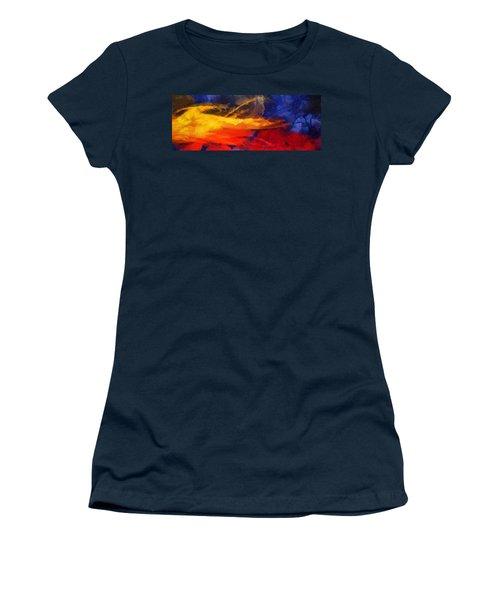Abstract - Throw  Women's T-Shirt (Junior Cut) by Sir Josef - Social Critic -  Maha Art