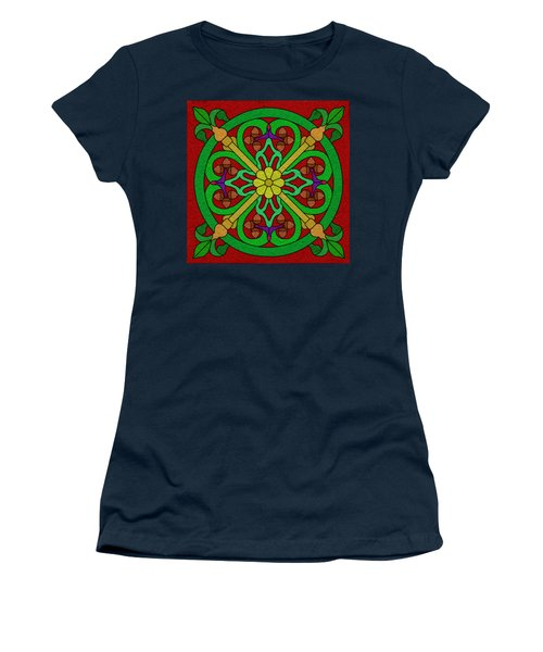 Acorns On Red 2 Women's T-Shirt (Junior Cut) by Curtis Koontz