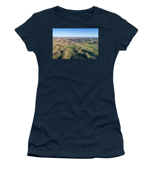 aerial view of Nebraska Sand Hills  Women's T-Shirt