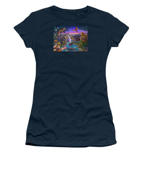 African Animals At The Water Hole Women's T-Shirt