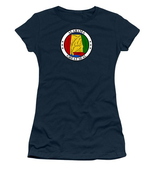 Alabama State Seal Women's T-Shirt (Junior Cut) by Movie Poster Prints