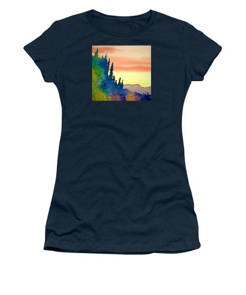 Alaskan Sunset Women's T-Shirt (Junior Cut) by Jan Amiss Photography