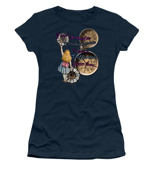 Alice In Wonderland Travelling In Time Women's T-Shirt