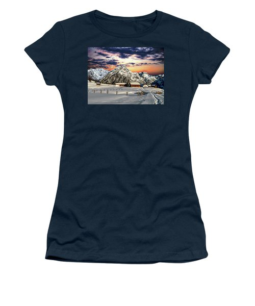 Alpine Winter Scene Women's T-Shirt