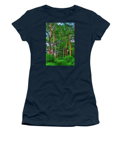 Amazing Rainbow Eucalyptus Women's T-Shirt (Athletic Fit)