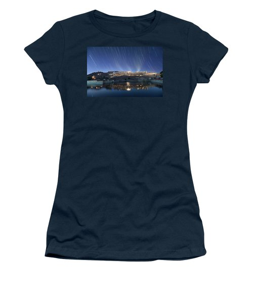 Women's T-Shirt featuring the photograph Amber Fort After Sunset by Pradeep Raja Prints