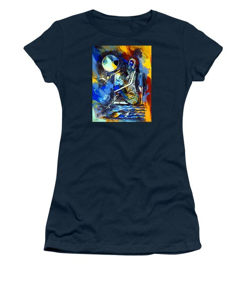 Ameeba- Nude Woman On Beach 6 Women's T-Shirt (Athletic Fit)