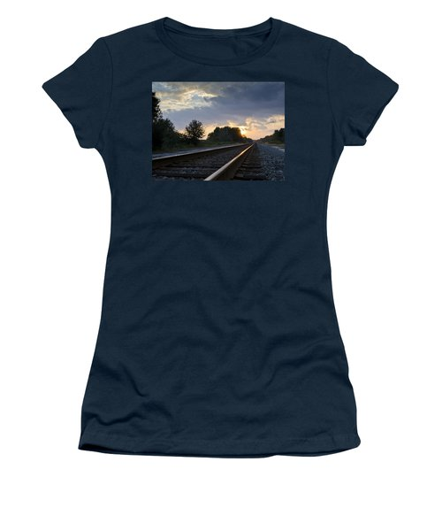 Amtrak Railroad System Women's T-Shirt (Athletic Fit)