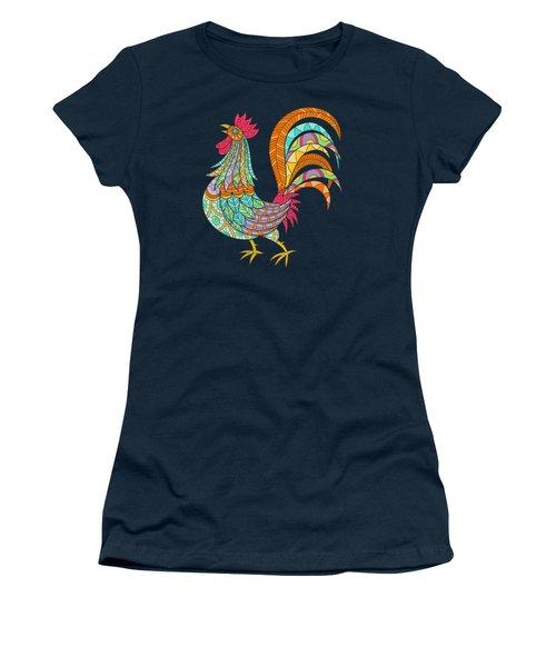 An Artful Rooster  Women's T-Shirt