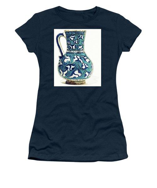 An Ottoman Iznik Style Floral Design Pottery Jug Polychrome, By Adam Asar, No 16 Women's T-Shirt