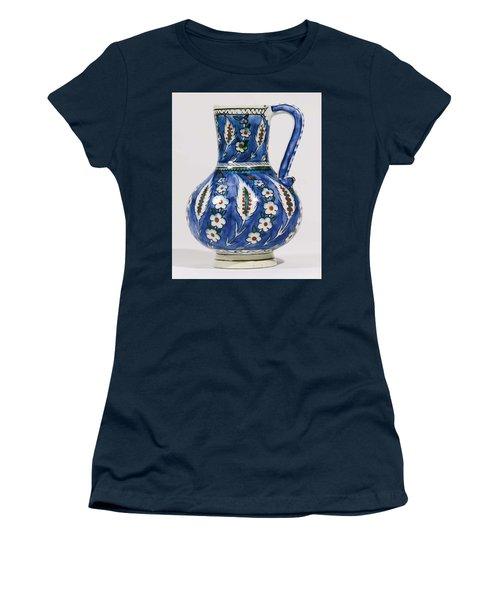 An Ottoman Iznik Style Floral Design Pottery Polychrome, By Adam Asar, No 19 Women's T-Shirt