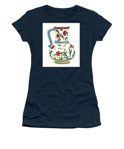 An Ottoman Iznik Style Floral Design Pottery Polychrome, By Adam Asar, No 6a Women's T-Shirt
