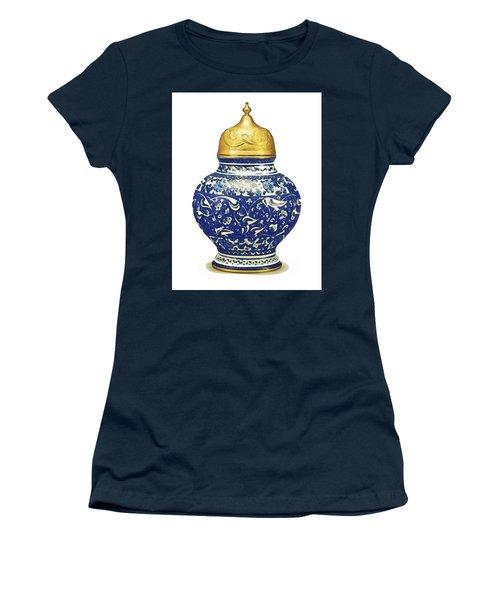 An Ottoman Iznik Style Floral Design Pottery Polychrome, By Adam Asar, No 9a Women's T-Shirt