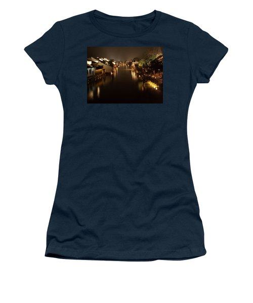 Ancient Chinese Water Town Women's T-Shirt (Junior Cut) by Andrew Soundarajan