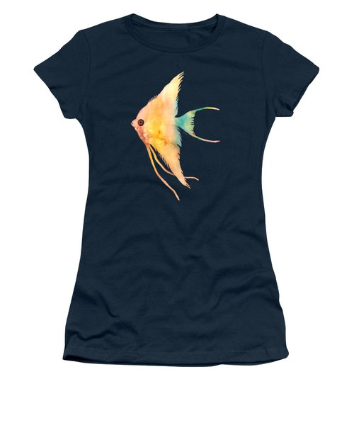 Angelfish II - Solid Background Women's T-Shirt (Athletic Fit)