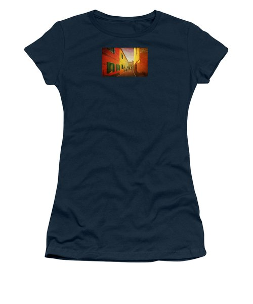 Women's T-Shirt (Junior Cut) featuring the photograph Another Morning In Malamocco by Anne Kotan