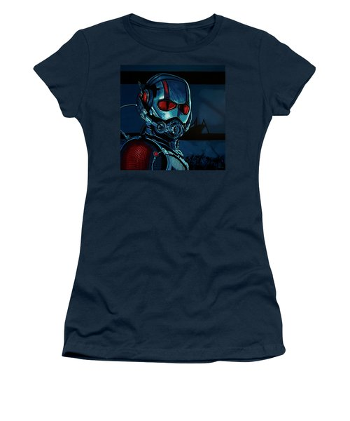 Ant Man Painting Women's T-Shirt (Junior Cut) by Paul Meijering