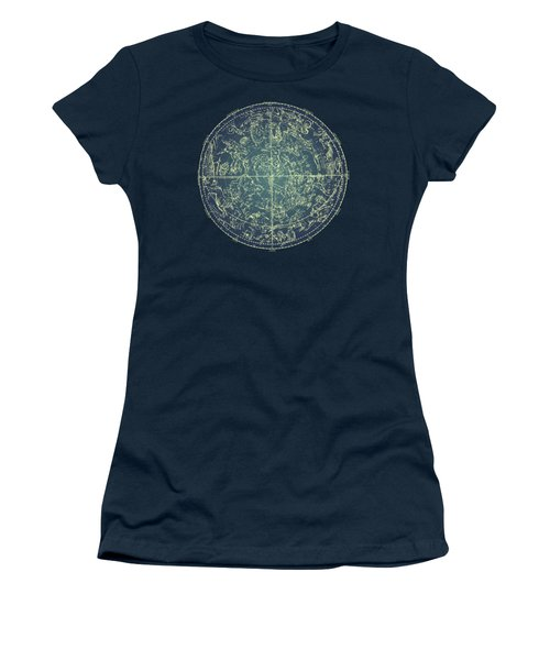 Antique Constellation Of Northern Stars 19th Century Astronomy Women's T-Shirt (Athletic Fit)