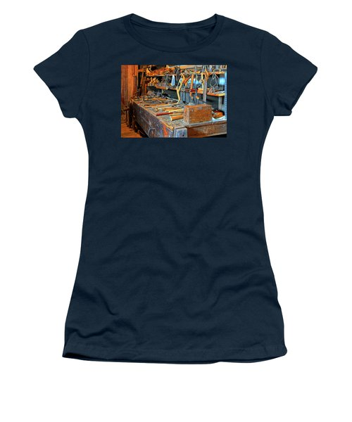 Antique Tool Bench Women's T-Shirt (Junior Cut) by Dave Mills