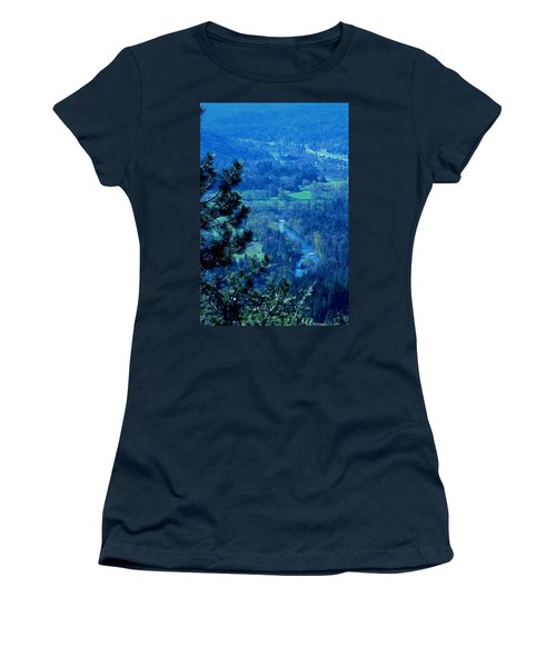 Women's T-Shirt (Junior Cut) featuring the photograph Applegate River From On Top Of Bolt Mountain by Marie Neder