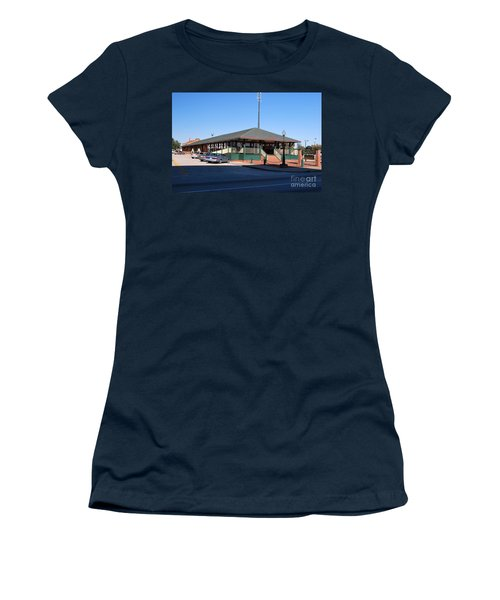 Arcadia Train Station Women's T-Shirt (Junior Cut) by Gary Wonning