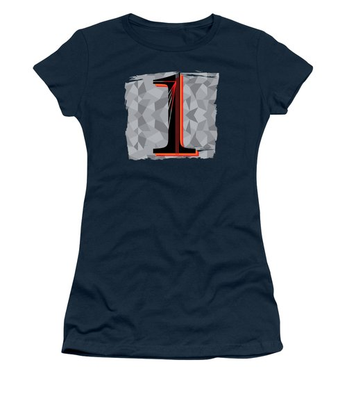 Number 1 One Women's T-Shirt (Junior Cut) by Liesl Marelli