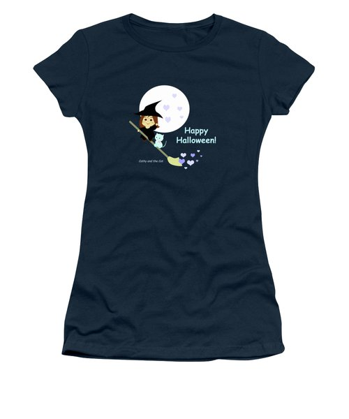 Cathy And The Cat Enjoy Halloween Women's T-Shirt