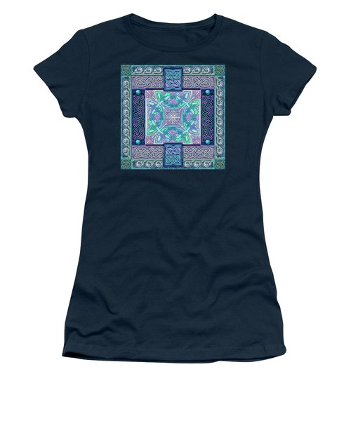 Women's T-Shirt (Junior Cut) featuring the mixed media Celtic Atlantis Opal by Kristen Fox