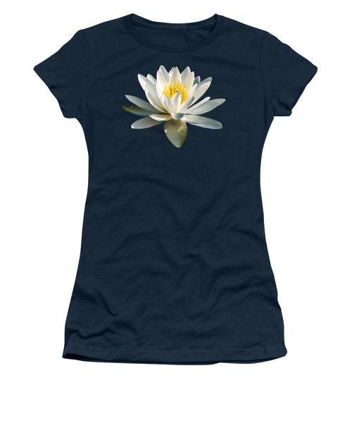 White Water Lily Women's T-Shirt (Junior Cut) by Christina Rollo