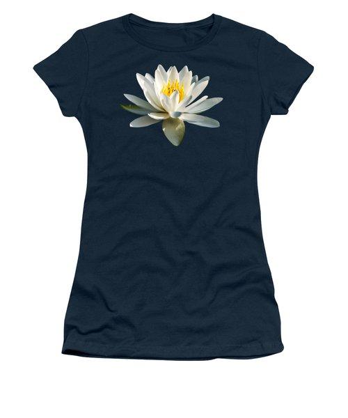 White Water Lily Women's T-Shirt (Junior Cut)
