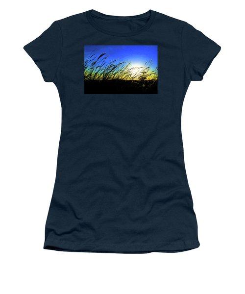 Women's T-Shirt (Junior Cut) featuring the photograph Tall Grass by Bill Kesler