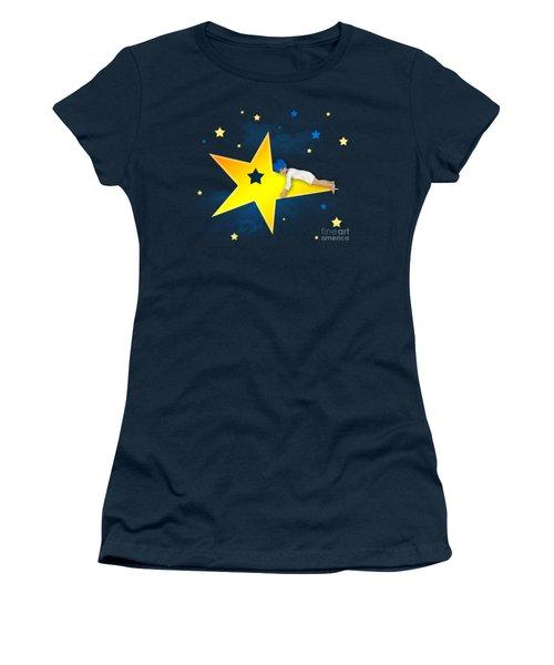 Star Child Women's T-Shirt (Junior Cut) by Jutta Maria Pusl