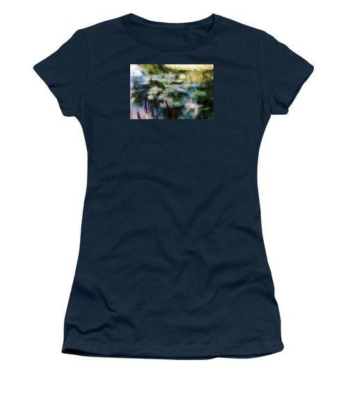Women's T-Shirt (Junior Cut) featuring the photograph At Claude Monet's Water Garden 2 by Dubi Roman