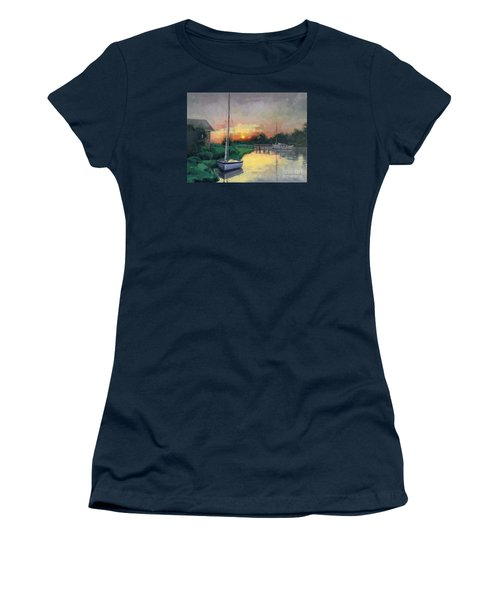 Women's T-Shirt (Junior Cut) featuring the painting At Ease Sold by Nancy Parsons