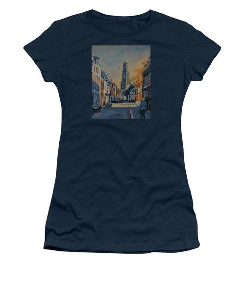 Autumn In The Lange Nieuwstraat Utrecht Women's T-Shirt (Athletic Fit)