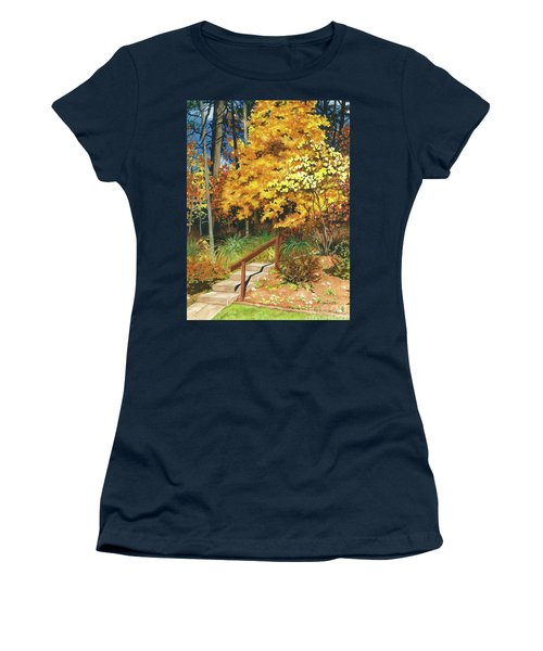 Women's T-Shirt (Junior Cut) featuring the painting Autumn Invitation by Barbara Jewell