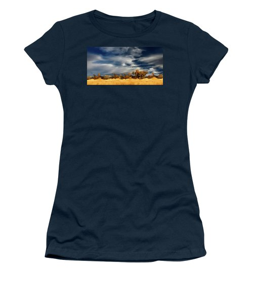 Women's T-Shirt (Junior Cut) featuring the painting Autumn On The Edge Of The Great Plains  by David Dehner