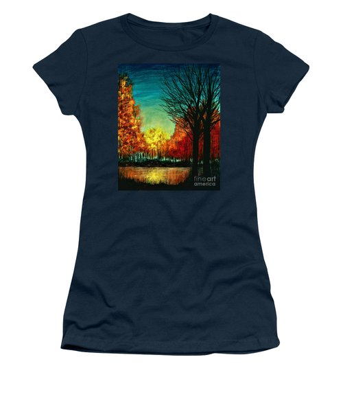 Autumn Silhouette  Women's T-Shirt (Athletic Fit)